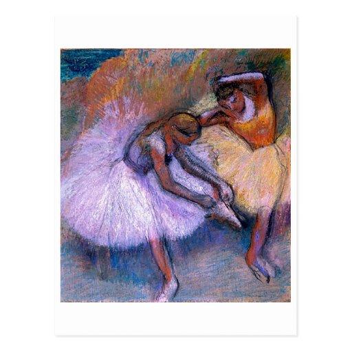 Edgar Degas - danse 1898 en pastel de ballet de de Carte Postale