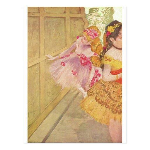 Edgar Degas - danseurs derrière le pastel du conte Cartes Postales