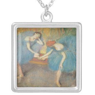 Edgar Degas   deux danseurs au repos, danseurs Pendentif Carré