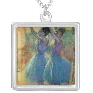 Edgar Degas   deux danseurs bleus Pendentif Carré