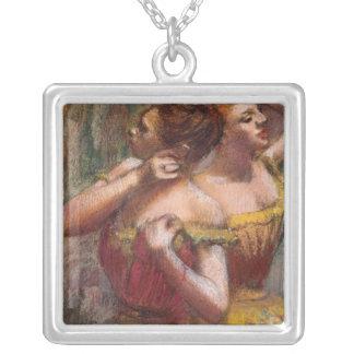 Edgar Degas   deux danseurs Pendentif Carré