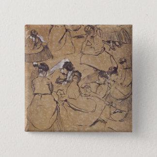 Edgar Degas | douze études des femmes dans le Pin's