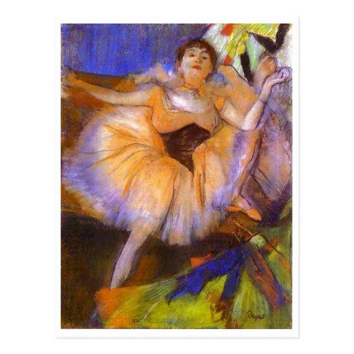 Edgar Degas - femme assise de buste du danseur 187 Cartes Postales