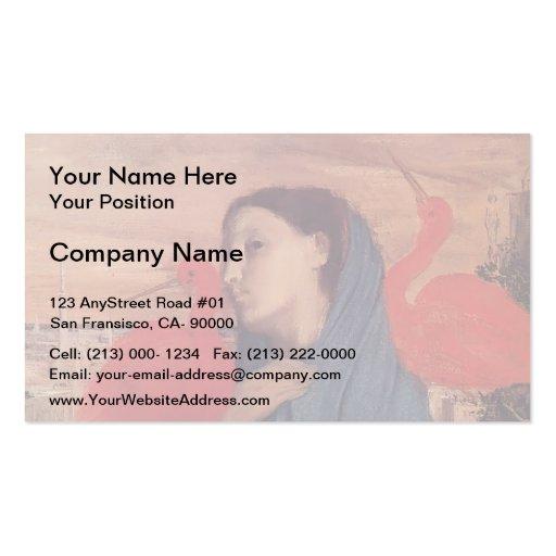 Edgar Degas : Femme sur une terrasse Cartes De Visite Personnelles