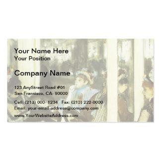 Edgar Degas : Femmes sur une terrasse de café Carte De Visite Standard