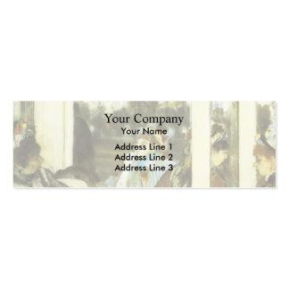 Edgar Degas : Femmes sur une terrasse de café Carte De Visite Petit Format