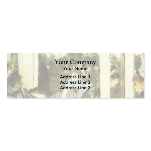 Edgar Degas : Femmes sur une terrasse de café Carte De Visite