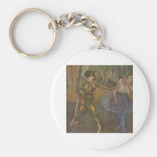 Edgar Degas - harlequin et Colombine 1884 Porte-clé Rond