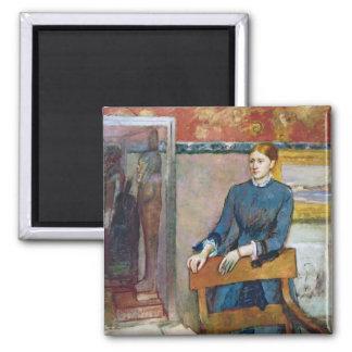 Edgar Degas   Helene Rouart dans l'étude de son Aimant
