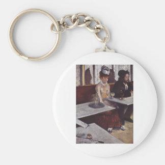 Edgar Degas - huile de café de femme d'homme de Porte-clé Rond