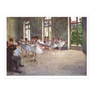 Edgar Degas - huile de la classe 1873 de répétitio Cartes Postales