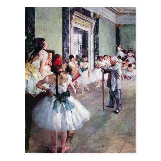 Edgar Degas - la classe de danse Carte Postale