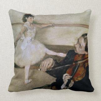 Edgar Degas | la leçon de danse, c.1879 Coussins Carrés