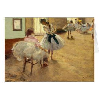 Edgar Degas la leçon de danse Carte De Correspondance