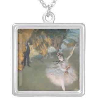 Edgar Degas   l'étoile, ou danseur sur l'étape Pendentif Carré