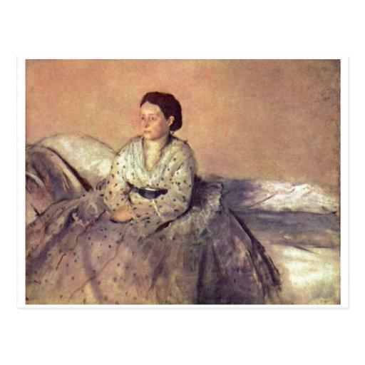 Edgar Degas - Madame Rene de Gas 1872-73 de portra Cartes Postales