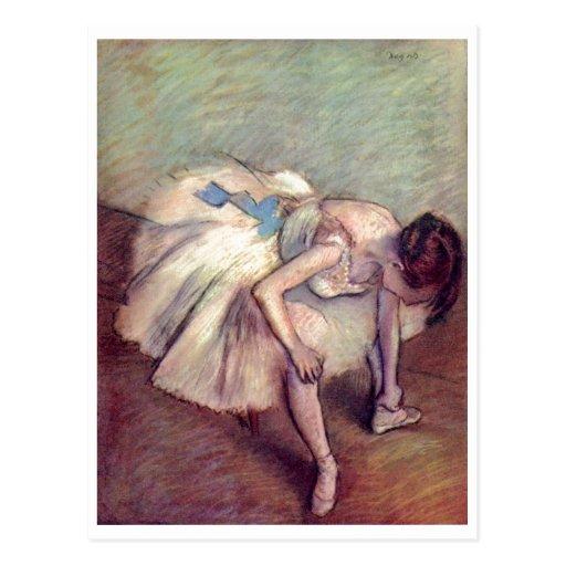 Edgar Degas - pastel 1881-83 de bout droit de ball Cartes Postales