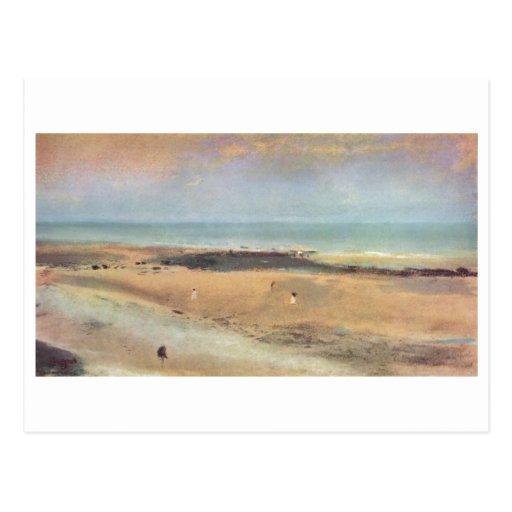 Edgar Degas - pastel de la marée basse 1869-70 de  Cartes Postales