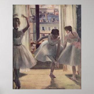 Edgar Degas - pièce 1873 de trois danseurs dans la