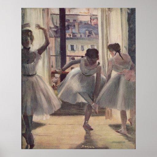 Edgar Degas - pièce 1873 de trois danseurs dans la Posters