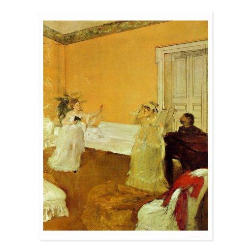 Edgar Degas - portrait Marcellin Desboutin 1872-73 Carte Postale