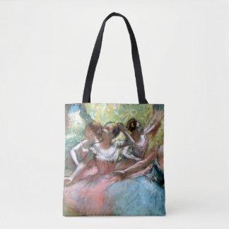 Edgar Degas | quatre ballerines sur l'étape Tote Bag