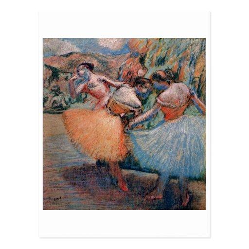 Edgar Degas - tutu 1898 de trois de danseurs femme Carte Postale
