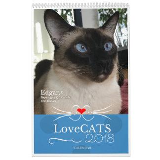 Édition 2018 de calendrier de LoveCATS troisième