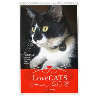Édition 2018 de calendrier deuxièmes de LoveCATS