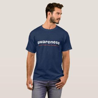 édition blanche de conscience et bleue rouge t-shirt