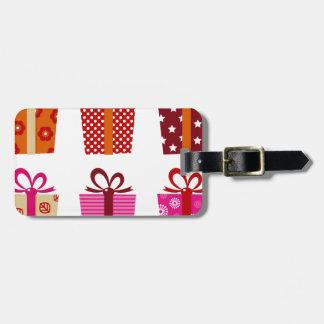 Édition colorée extraordinaire de cadeau : Rouge Étiquettes Bagages
