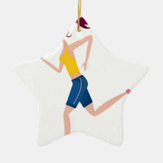 Édition courante de fille ornement étoile en céramique