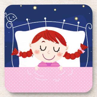Édition de concepteurs avec la fille de sommeil sous-bock