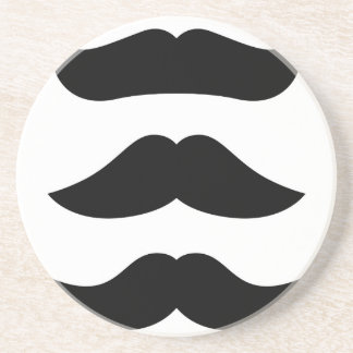 Édition de cru de moustaches de concepteurs dessous de verre
