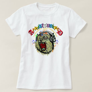 Édition fraîche de chat unie par artistes t-shirts