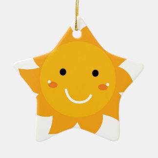 Édition heureuse de concepteurs du soleil ornement étoile en céramique