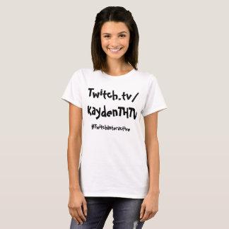 Édition interactive de femelle de T-shirt de tic