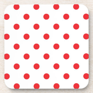 Édition mignonne de points de concepteurs : rouge sous-bocks