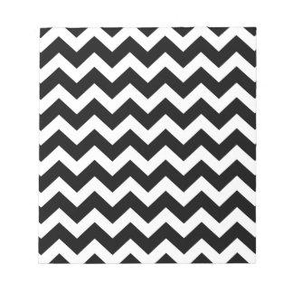Édition noire d'enveloppe de partie de zigzag blocs notes