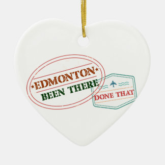 Edmonton là fait cela ornement cœur en céramique