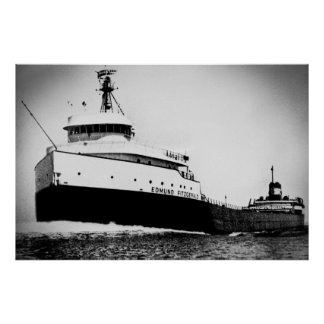 Edmund Fitzgerald Great Lakes maritimes vintages Poster