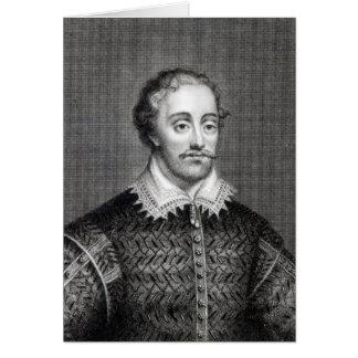 Edmund Spenser, gravé par la lecture de Burnet Carte De Vœux
