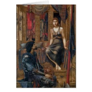 Edouard - le Roi Cophetua et la domestique de Carte De Vœux