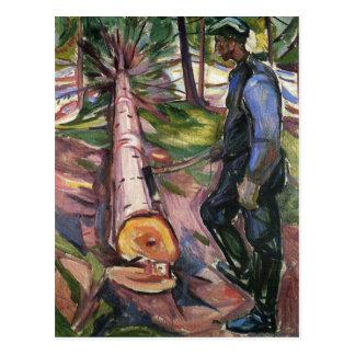 Edouard mâchent la peinture d'art carte postale