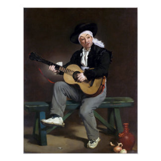 Édouard Manet le chanteur espagnol Posters