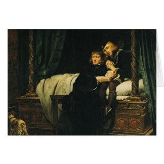 Edouard V et Richard, duc de York dans Carte De Vœux