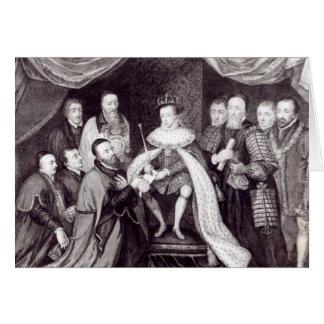 Edouard VI accordant la charte Carte De Vœux