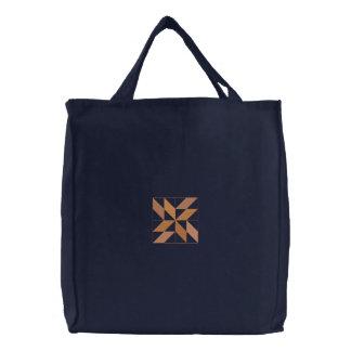 Édredon #3 carré sac brodé