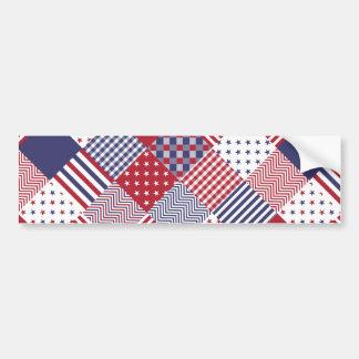 Édredon blanc des Etats-Unis et bleu rouge Autocollant Pour Voiture