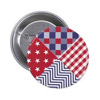 Édredon blanc des Etats-Unis et bleu rouge Badges